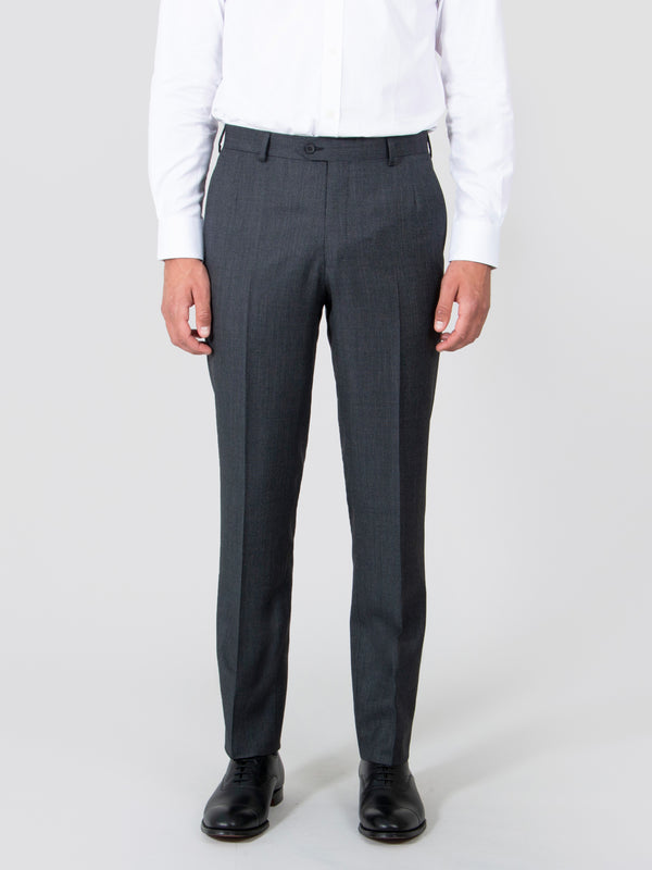 Charcoal Nailhead Suit Trousers