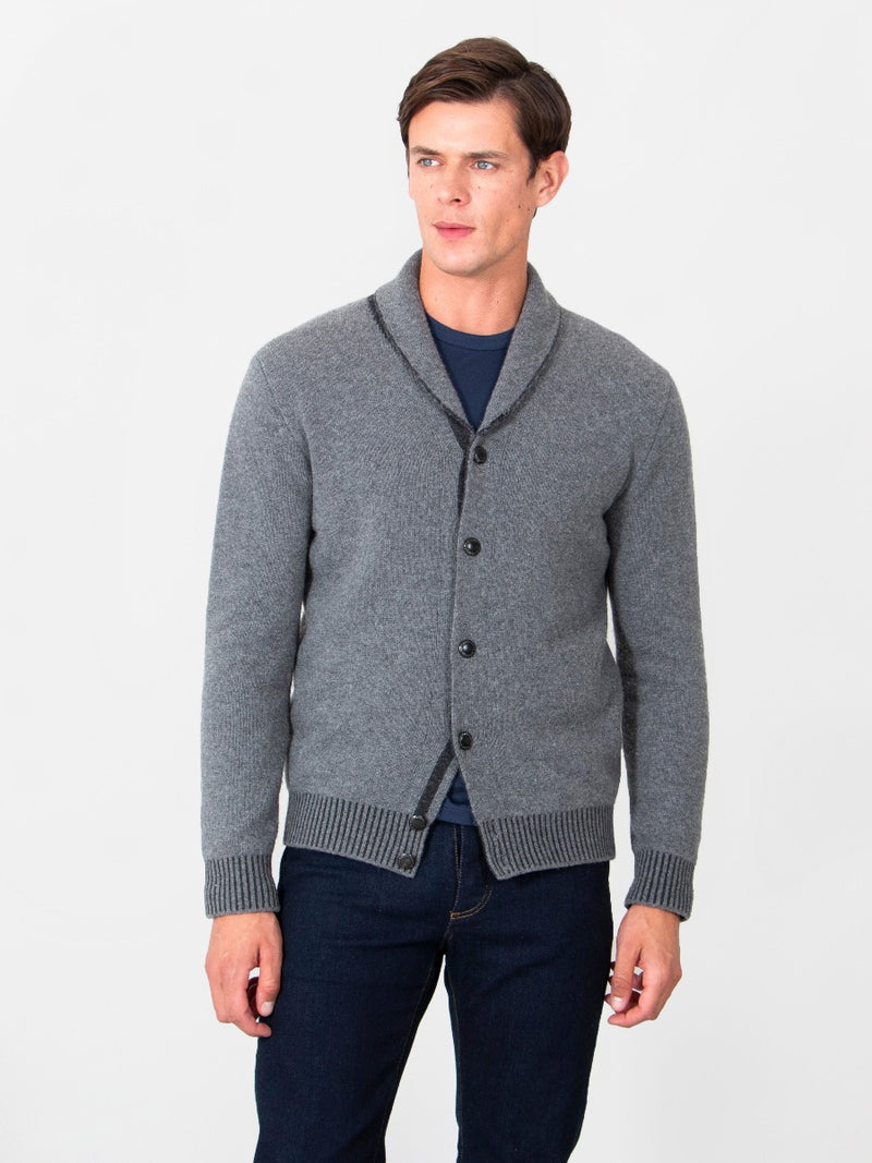 Luxury Wool Shawl Collar Cardigan
