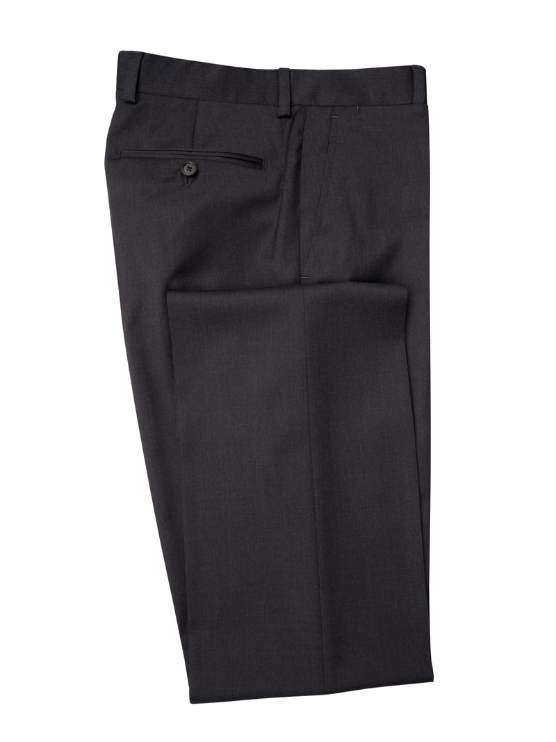 Charcoal Flat Fronted Trousers