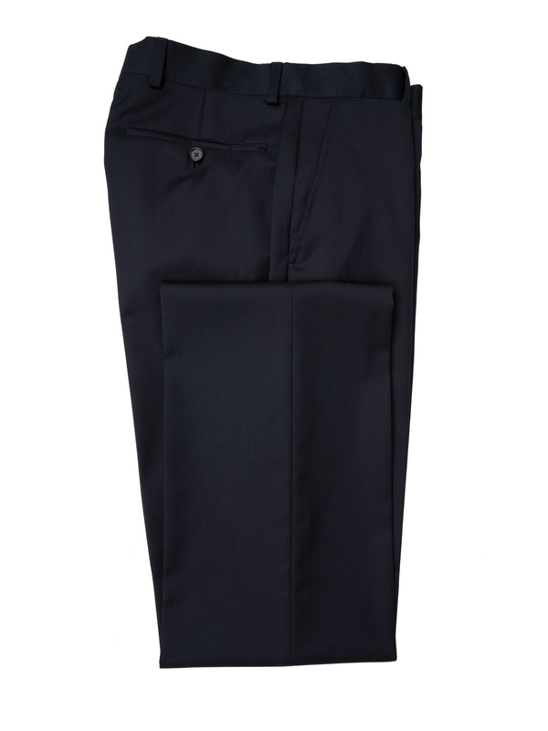 Classic Navy Flat Fronted Trousers