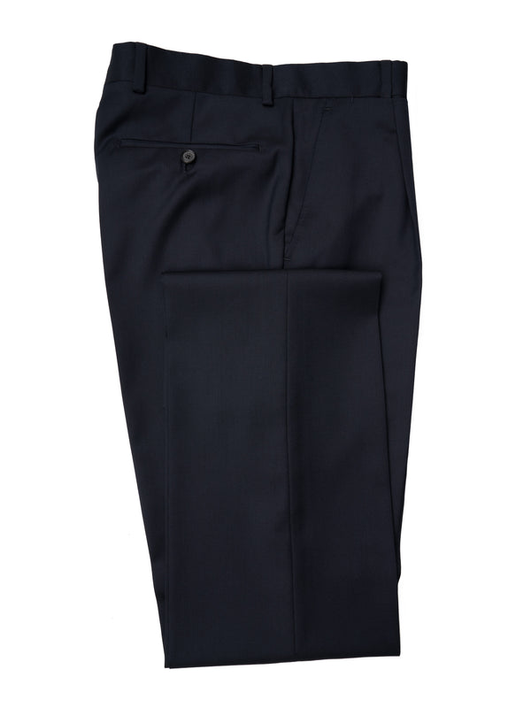 Classic Navy Single Pleated Trousers