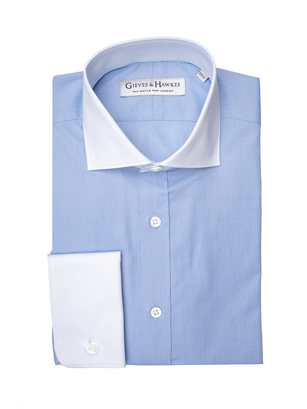 Light Blue Pinpoint Tailored Fit Shirt