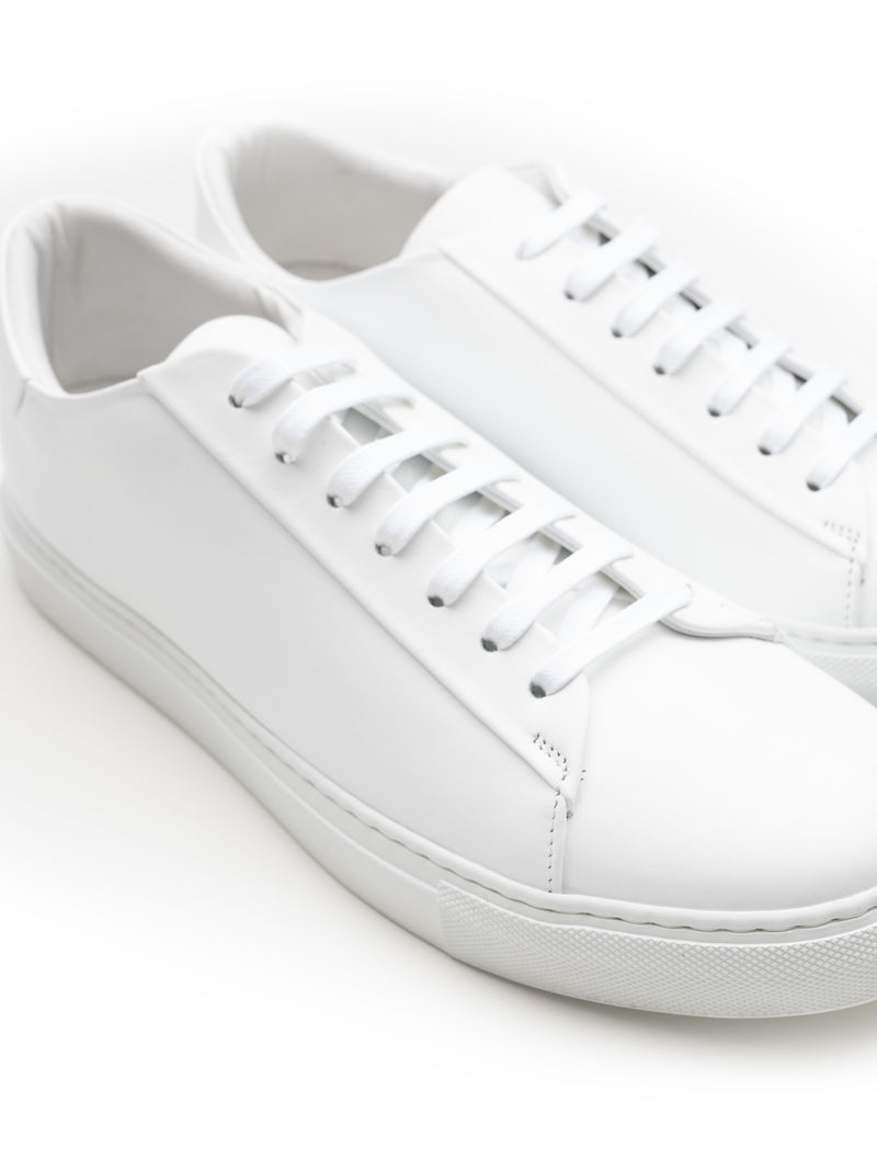 White Leather Modern Trainers
