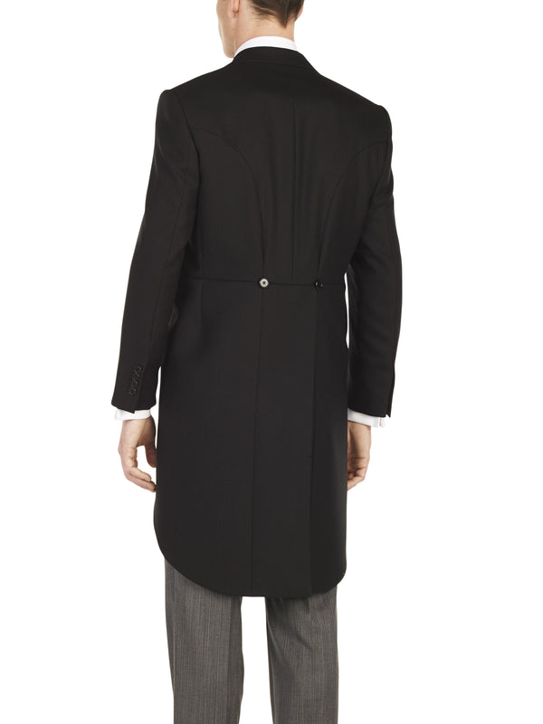 Black Wool Morning Coat