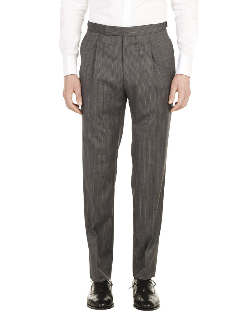 Black & Grey Stripe Morning Trouser