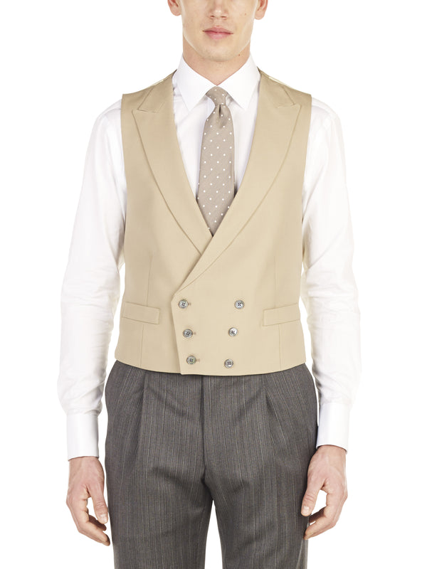 Tan Double Breasted Waistcoat