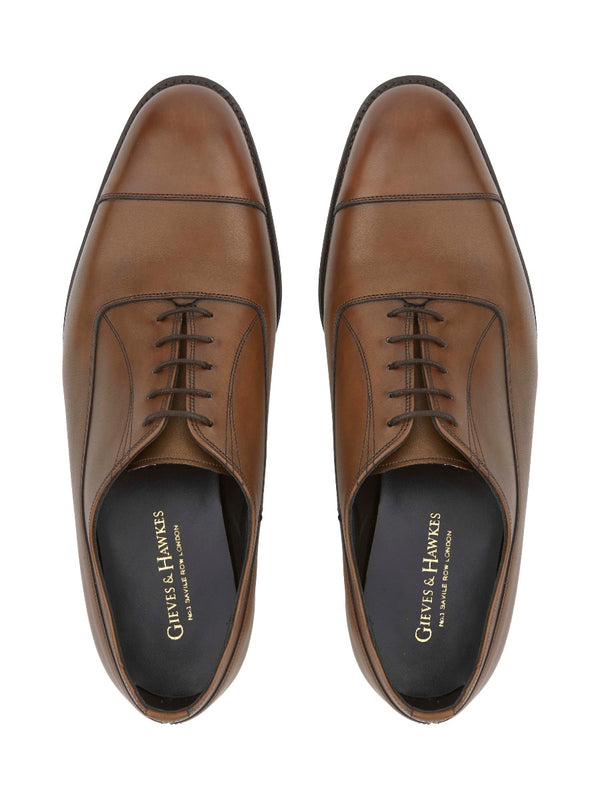 Brown Oxford Leather Shoes