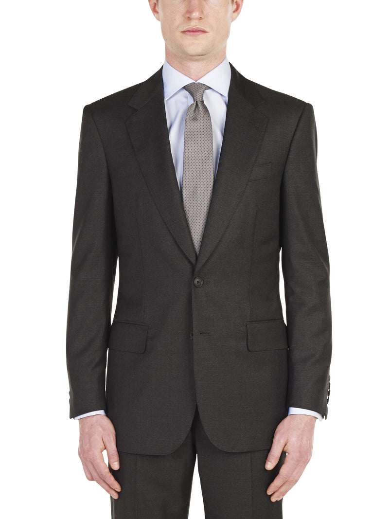 Handmade Classic Charcoal Twill Suit