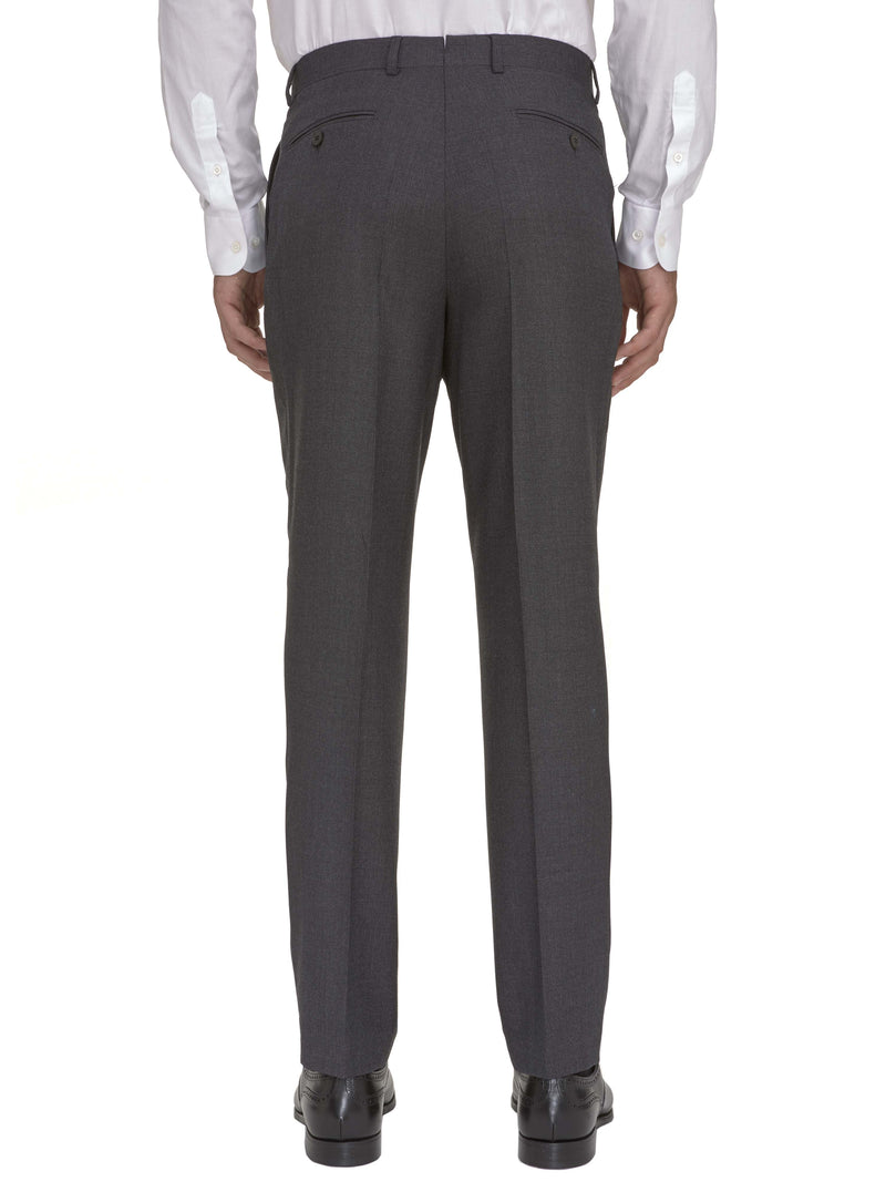 Double-pleated Classic Charcoal Birdseye Trouser