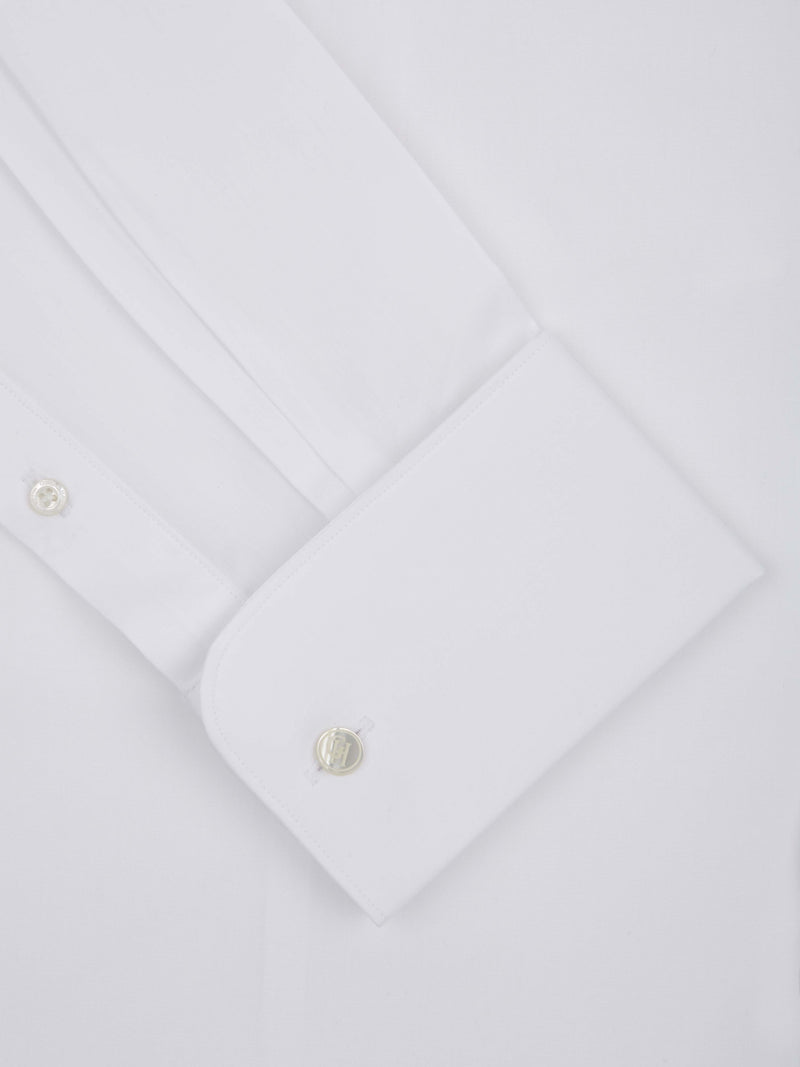 White Poplin Tailored Fit Business Shirt