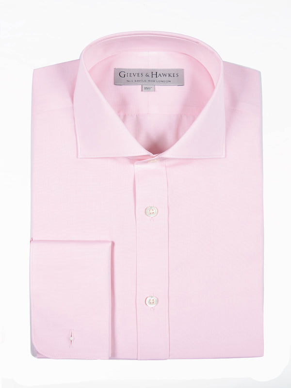 Pink Poplin Business Shirt