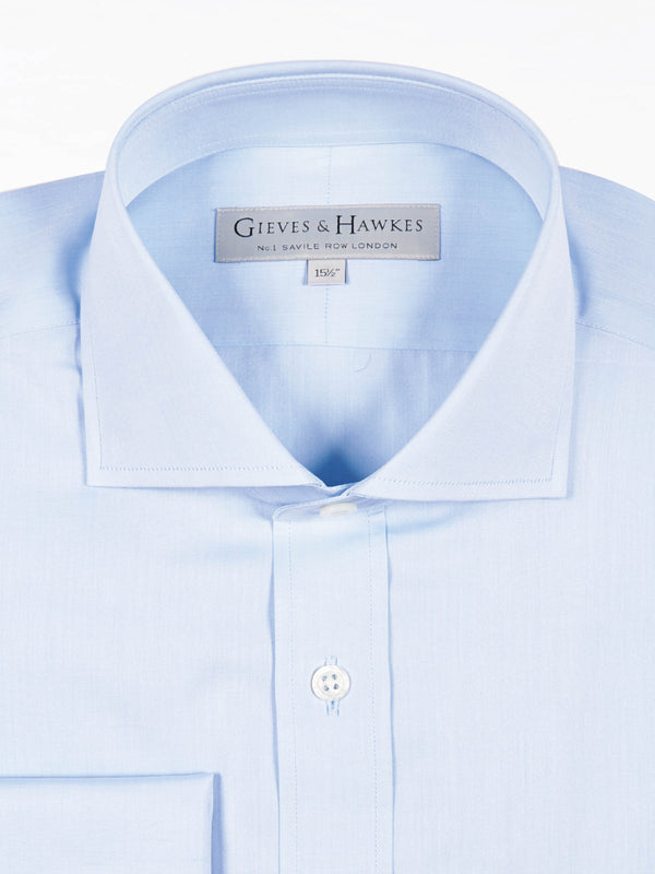 Blue Poplin Classic Fit Business Shirt