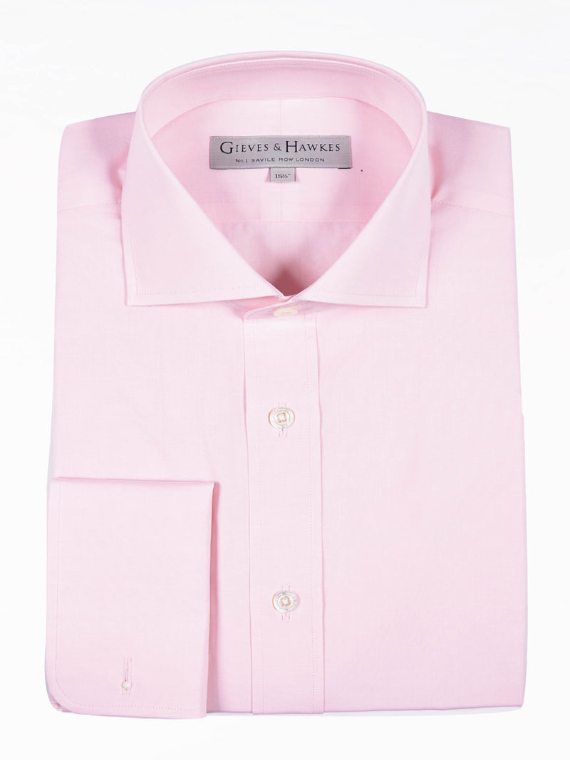 Classic Pink Poplin Business Shirt