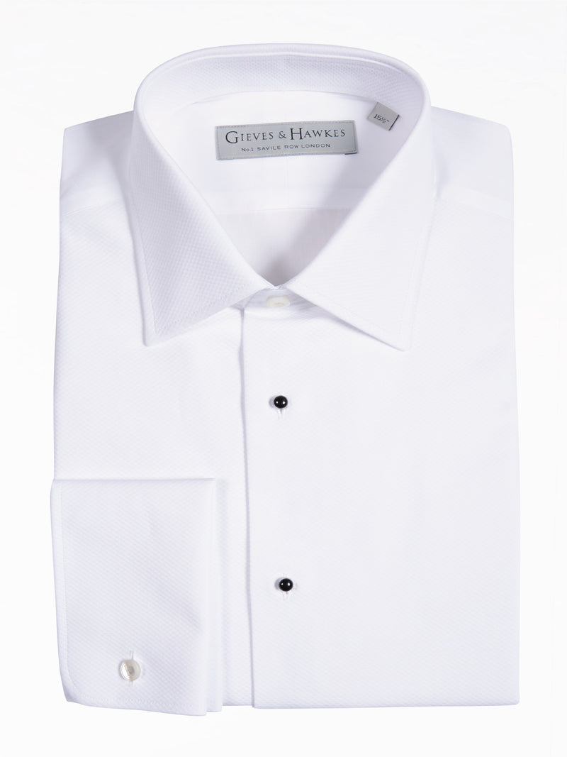 Classic Fit White Marcella Cotton Evening Shirt