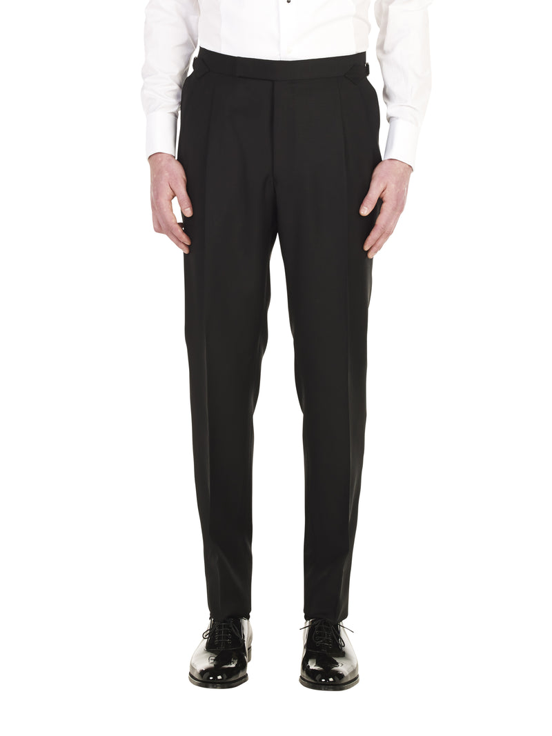 Black Pleated Dinner Trouser