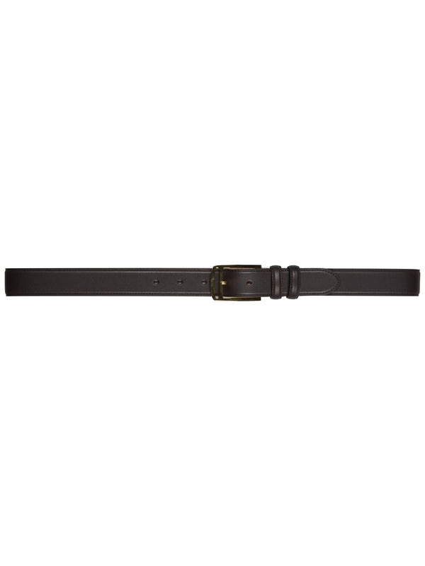 Classic Chocolate Brown Leather Belt