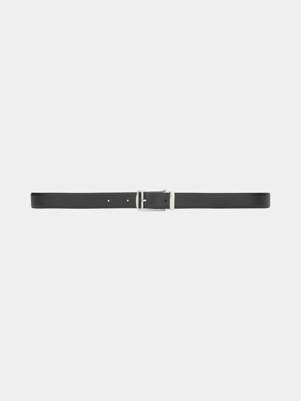 Black Rectangular Pin Buckle Belt