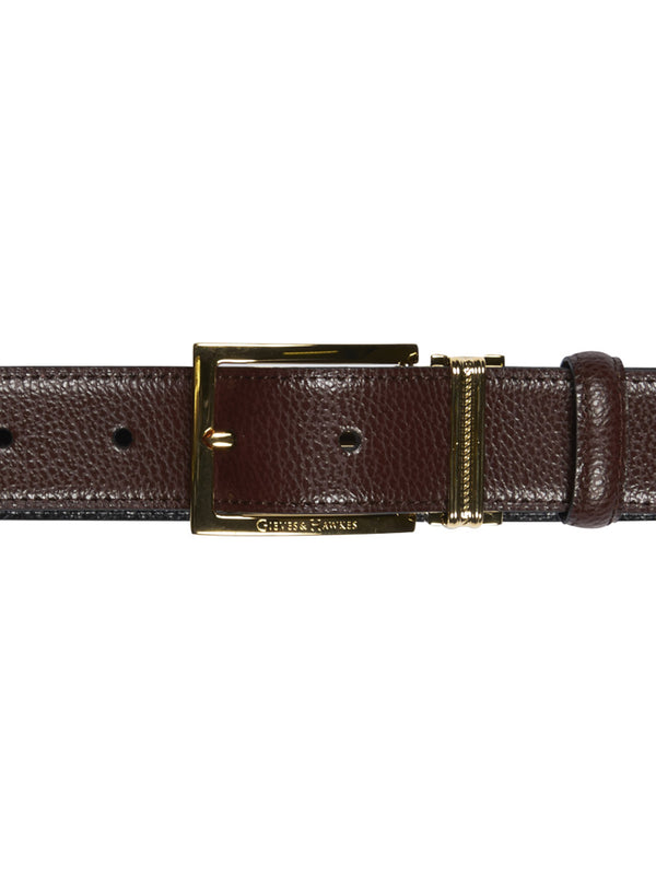 Classic Mahogany Leather Belt