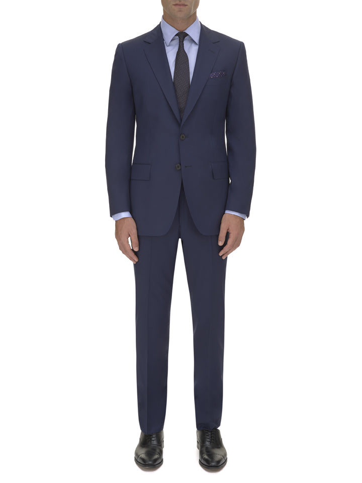 Light Navy Wool Gabardine Suit Jacket