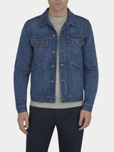 Washed Denim Trucker Jacket