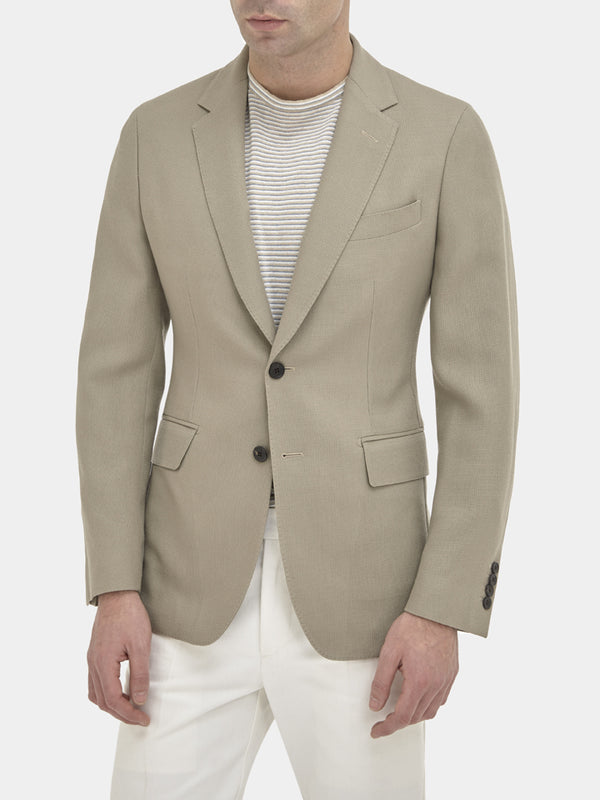 Textured Wool And Mohair Soft-tailored Jacket