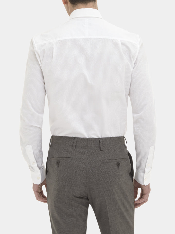 Seersucker Tailored Fit Shirt