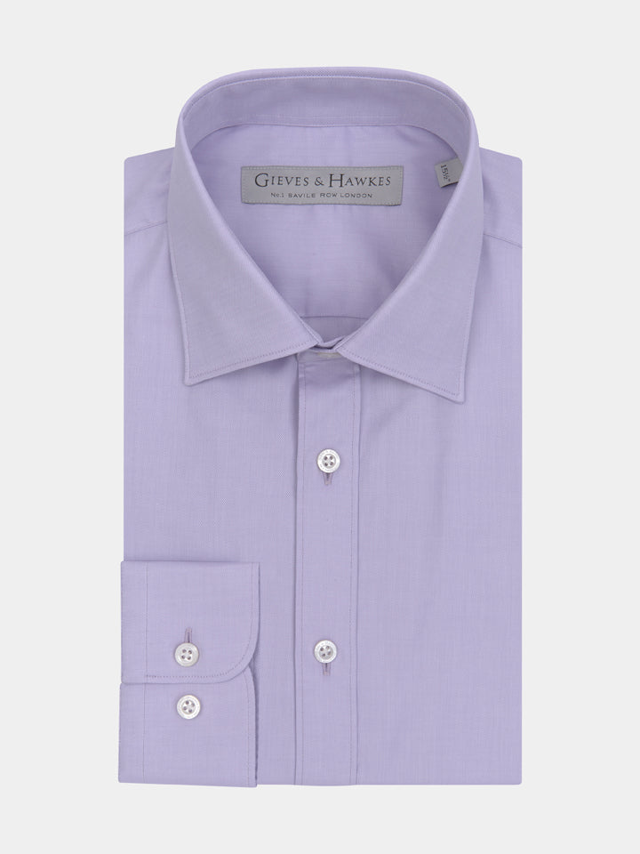 Lilac Textured Tailored Fit Shirt