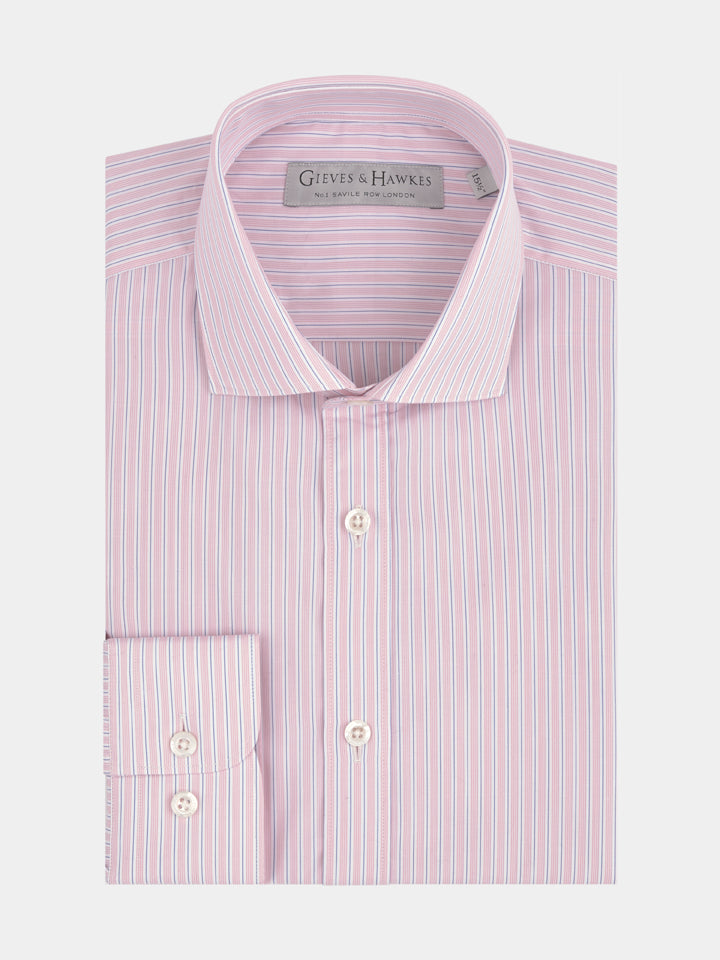 Pink Fine Stripe Tailored Fit Shirt