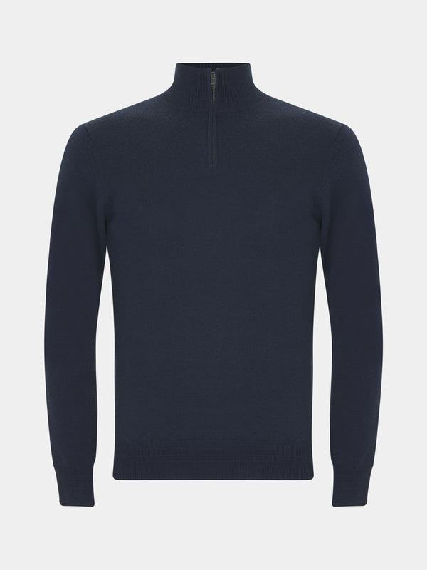 Lightweight Merino Quarter-zip Sweater