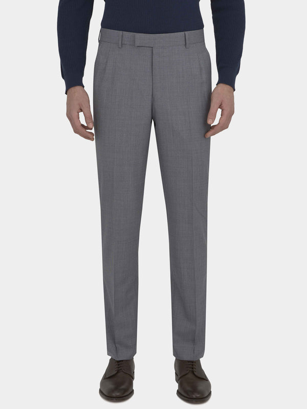 Slate Houndstooth Virgin Wool Suit