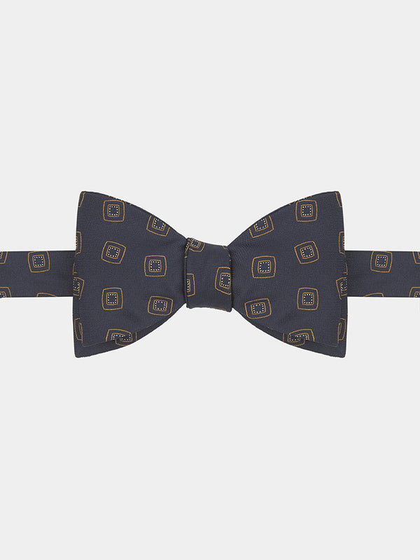 Art Deco Silk Jacquard Bow Tie