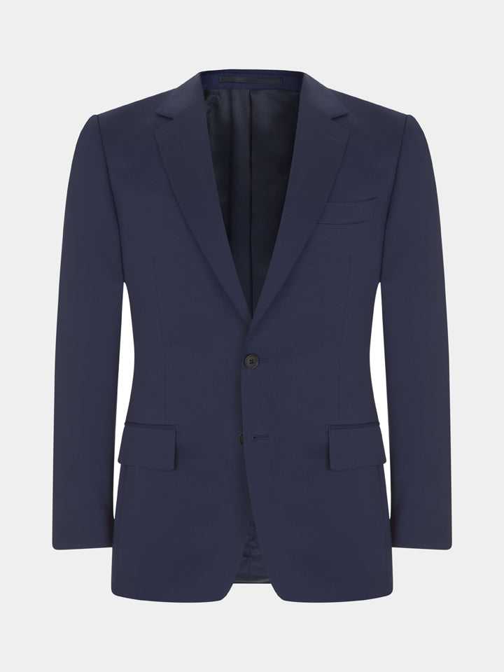 Navy Lightweight Plainweave Wool Suit Jacket