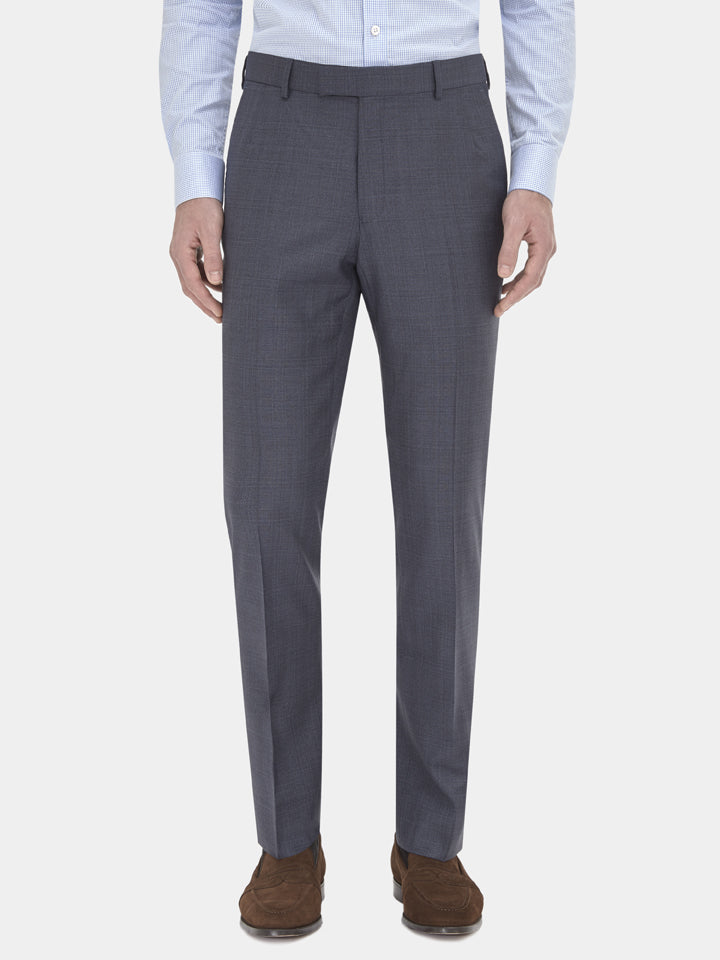 Concrete Lightweight Textured Wool Suit Trousers