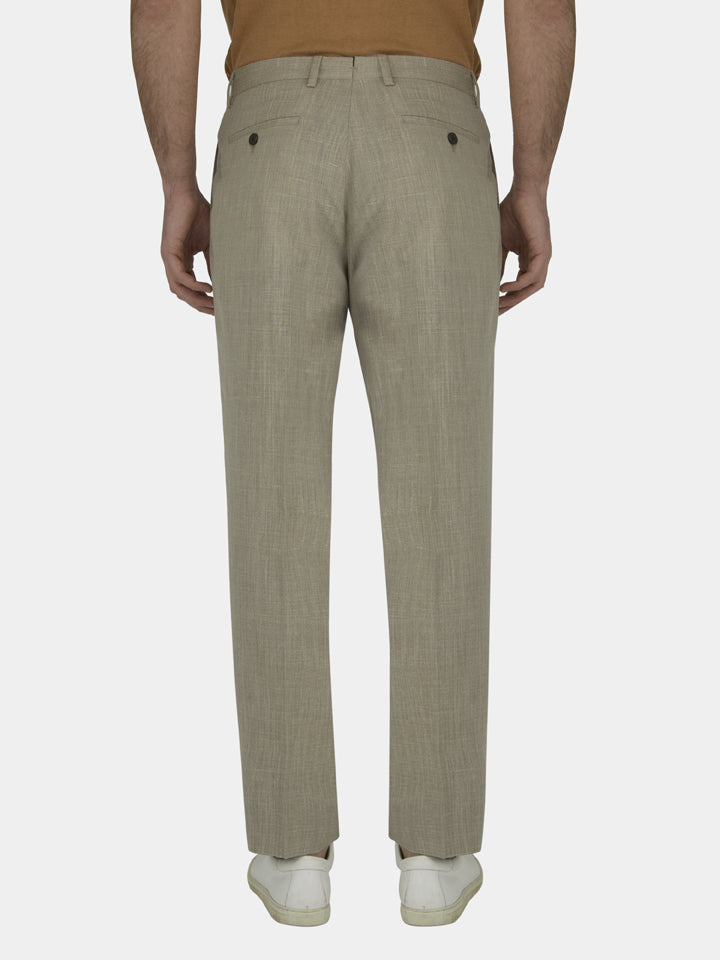 Textured Wool, Silk And Linen Trousers
