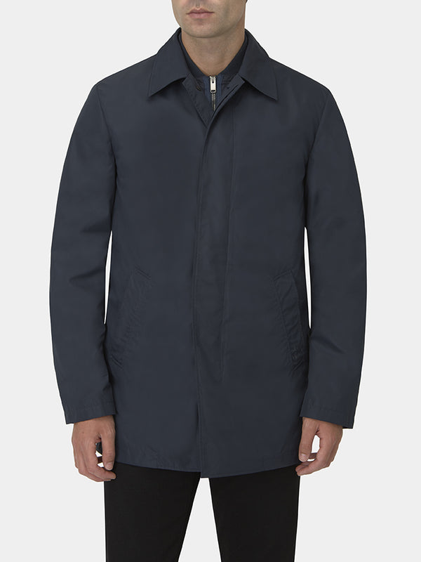Technical Zip-up Raincoat With Gilet