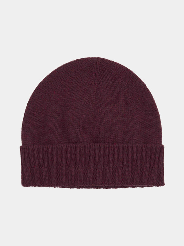 Wool Flecked Knitted Beanie