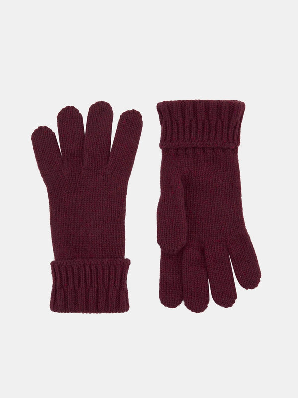 Wool Flecked Knitted Gloves