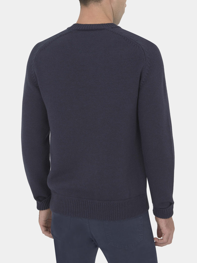 1771 Crown Stitch Cotton, Wool And Cashmere Crewneck