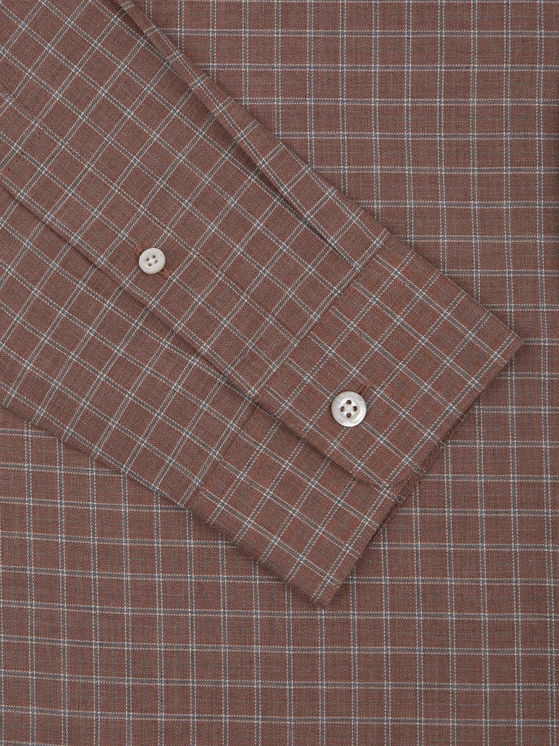 Cotton Grid-check Casual Shirt