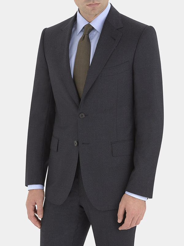 Handmade Navy Merino Wool Suit