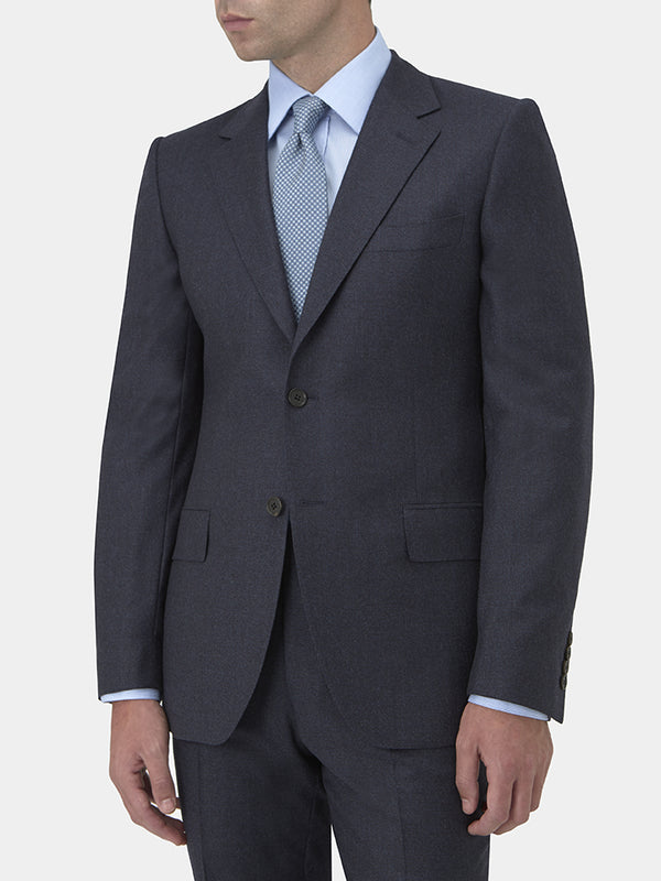 Navy Virgin Wool Flannel Suit