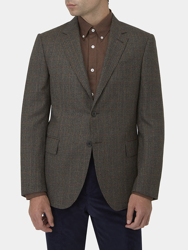 Chocolate Check Virgin Wool Jacket
