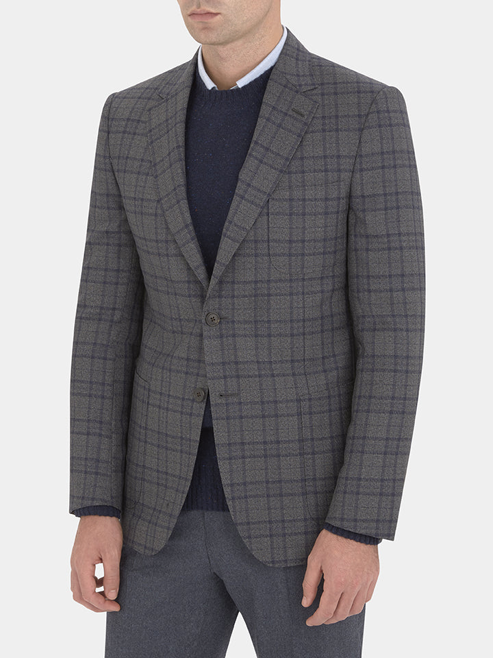 Tonal Over Check Jacket