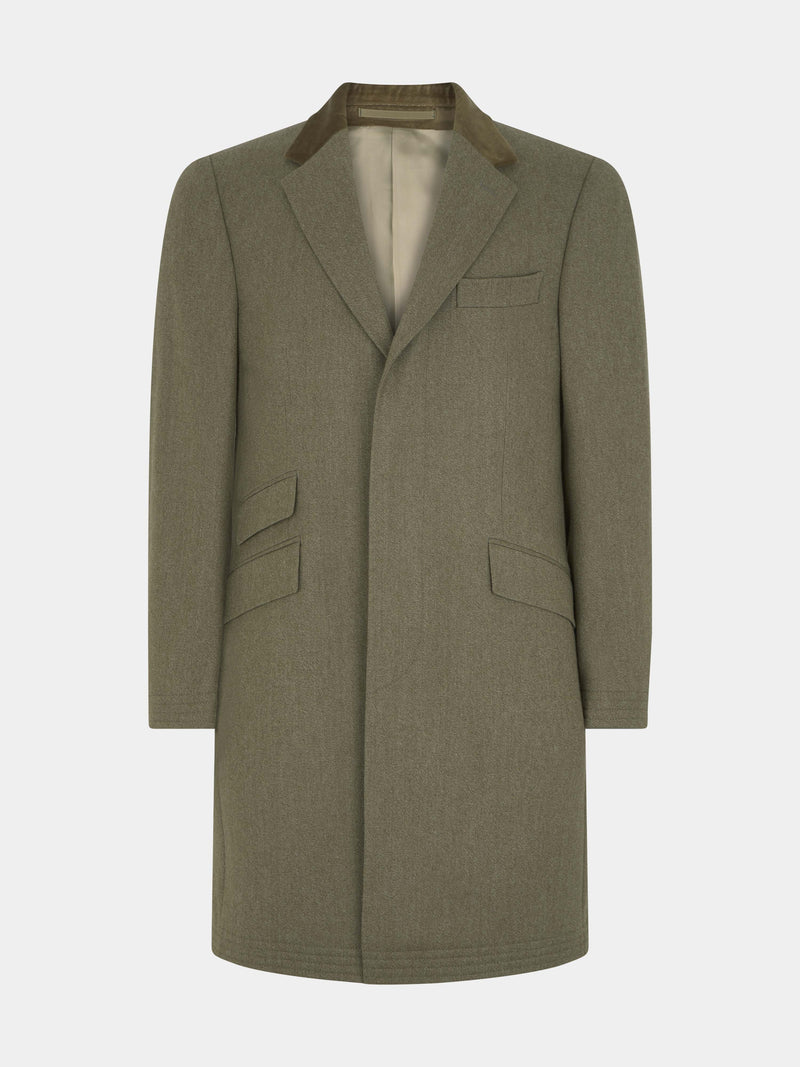 Fawn Whipcord Covert Coat