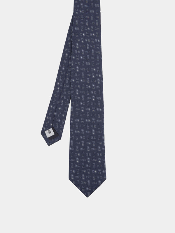 Abstract Jacquard Silk Tie