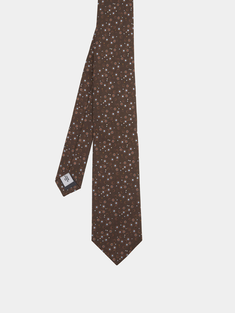 Abstract Spot Jacquard Silk Tie