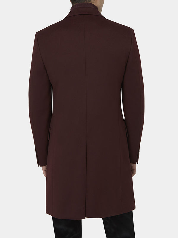 Wool And Cashmere Single-breasted Overcoat