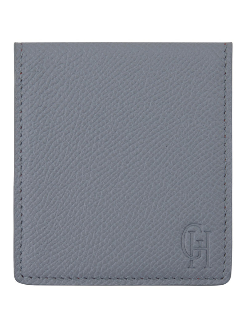 Light Grey Saffiano Leather Collar Bone Case