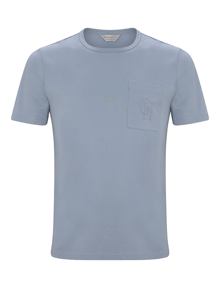 Jersey T-shirt With Monogrammed Breast Pocket