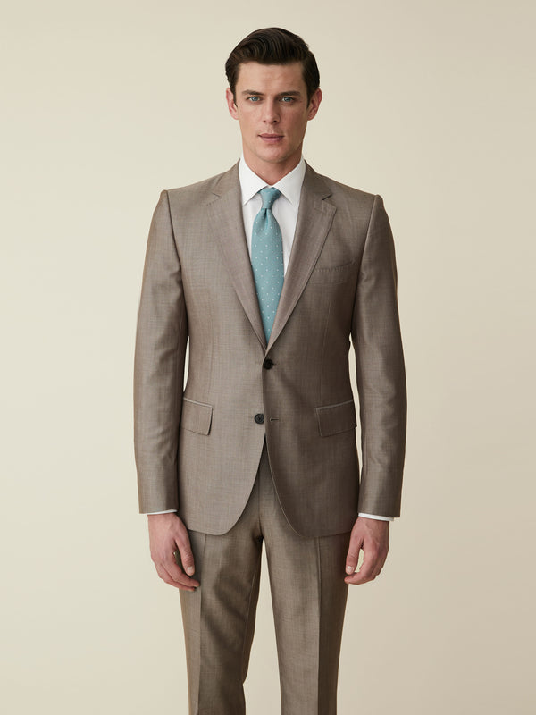 Virgin Wool And Silk Suit